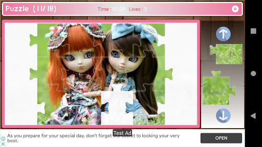 Cute And Beautifull Doll Game Puzzle android2mod screenshots 5