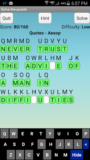 Cryptoquote cryptograms