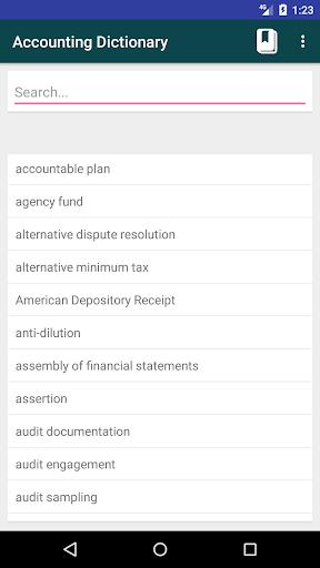 Screenshot 1 Accounting Dictionary