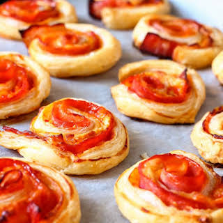 Bacon Pinwheels with Cheddar.