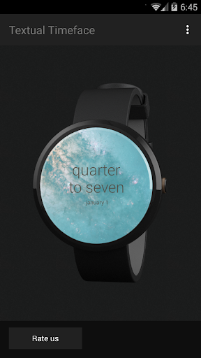 Textual Watch Face
