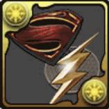 スーパーマン&フラッシュのエンブレム