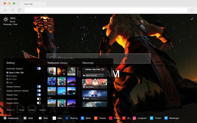 Dota 2 New Tab Page Games HD Wallpaper Themes