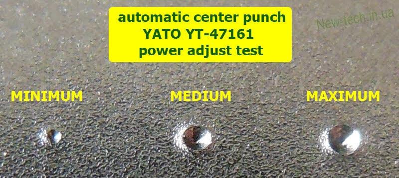 Кернер YATO YT-47161 тест регулировки мощности удара