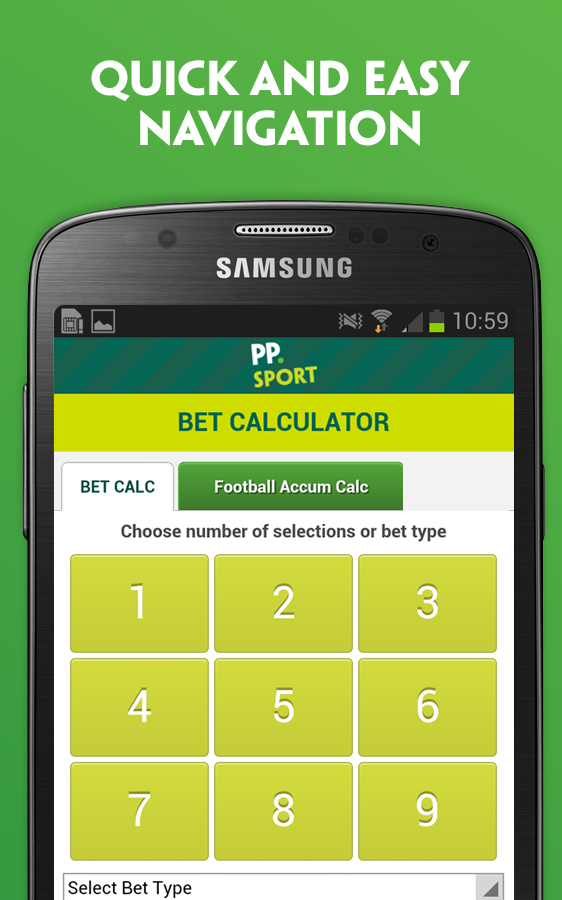 Paddy Power's Bet Calculator- screenshot