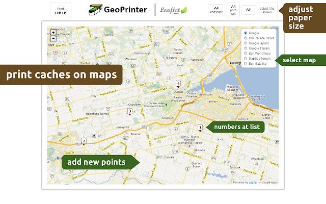 export GPX, edit, print, map  GeoPrinter 161