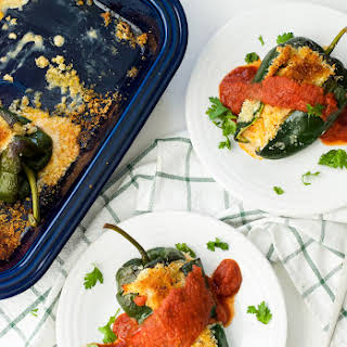 Baked Turkey Chiles Rellenos.