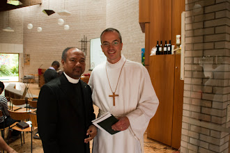Photo: Pastor Edmond Raharijaonarivelo and Pastor Matthias Tepper. Raharijaonarivelo is the President of the district of Paris and in the founding committee of the Malagasy Lutheran Church of Brussels. Tepper is a LCMS Alliance Missionary, serving in Belgium through a partnership between the LCMS and the Independent Evangelical - Lutheran Church (SELK) in Germany.