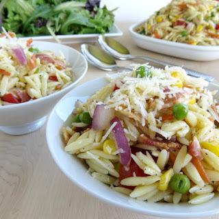 Orzo Pasta Salad with Bacon & Parmesan Vinaigrette