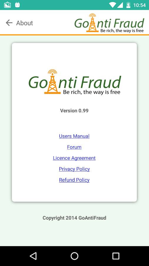 GoAntiFraud App- screenshot