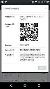 Burstcoin Wallet- screenshot thumbnail