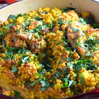 One Pot Mediterranean Chicken and Couscous Recipe