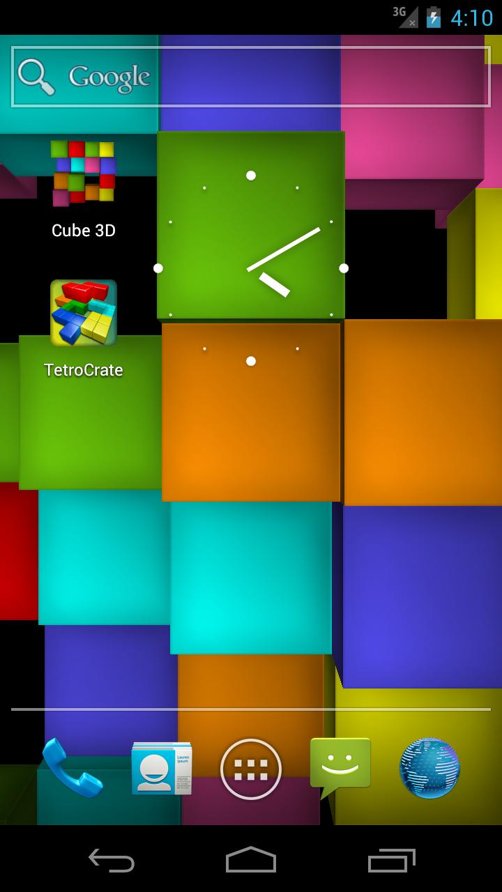 Скриншот Cube 3D: Живые Обои