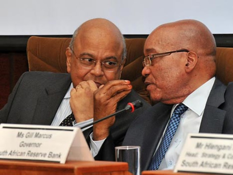 President Jacob Zuma and finance minister Pravin Gordhan. Picture: SUPPLIED