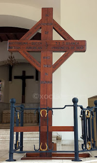 Salib di Gereja Simultaan  | Ereveld Menteng Pulo