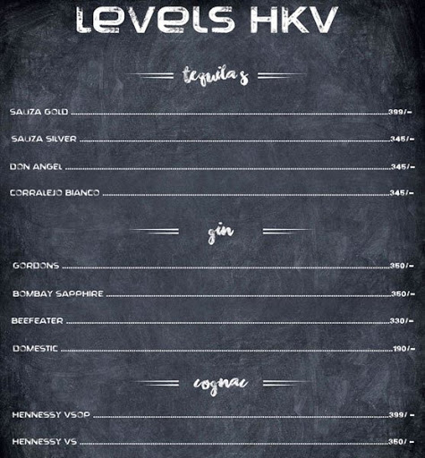 Menu 6 - Levels HKV, Hauz Khas Village, New Delhi
