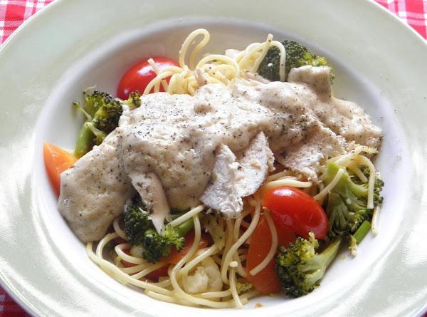 Chicken & Pasta In A Cream Sauce Recipe