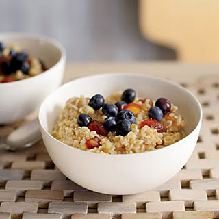 Three-Grain Cereal with Dates and Cinnamon.
