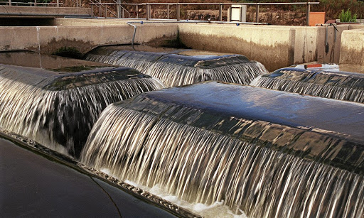 Onstream: The reuse of water from the agricultural sector and other large industries will help supplement water in cities. Here, recycled water gushes at a plant in Johannesburg en route to being pumped back into the Jukskei River. Picture: MARIANNE PRETORIUS