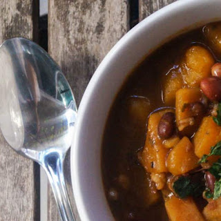 Slow Cooker Butternut Squash, Bean, and Barley Stew.