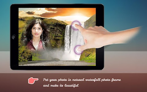 Natural Waterfall Photo Frame screenshot 1