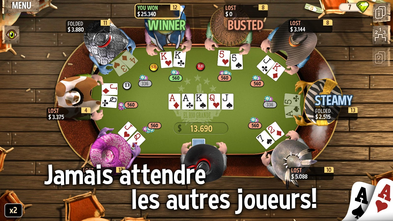 Governor of Poker 2 - OFFLINE POKER GAME – Capture d'écran