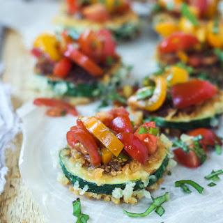 Skinny Bruschetta Zucchini Chips