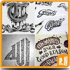 Hand Lettering Design Art icon