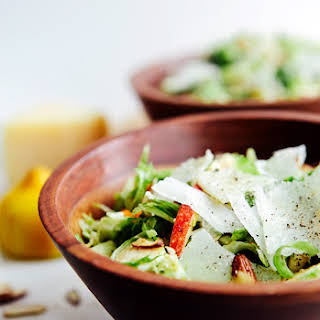 Shaved Brussels Sprouts and Apple Salad with Citrus Vinaigrette.