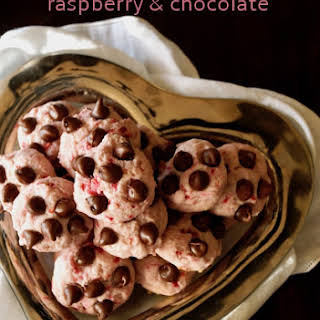 Raspberry Chocolate Cookies.
