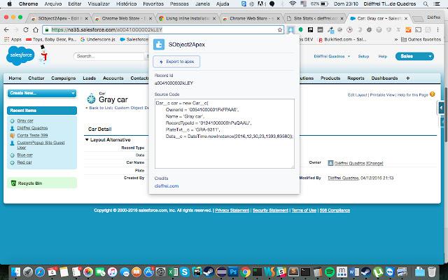 Salesforce SObject2Apex code generator