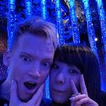 Matt and Moeka at Maharaja in Tokyo in Tokyo, Tokyo, Japan
