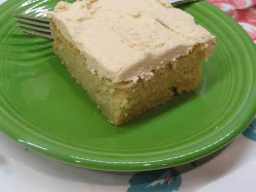 "Easy Peanut Butter Cake & Peanut Butter Frosting""I made this in a..."
