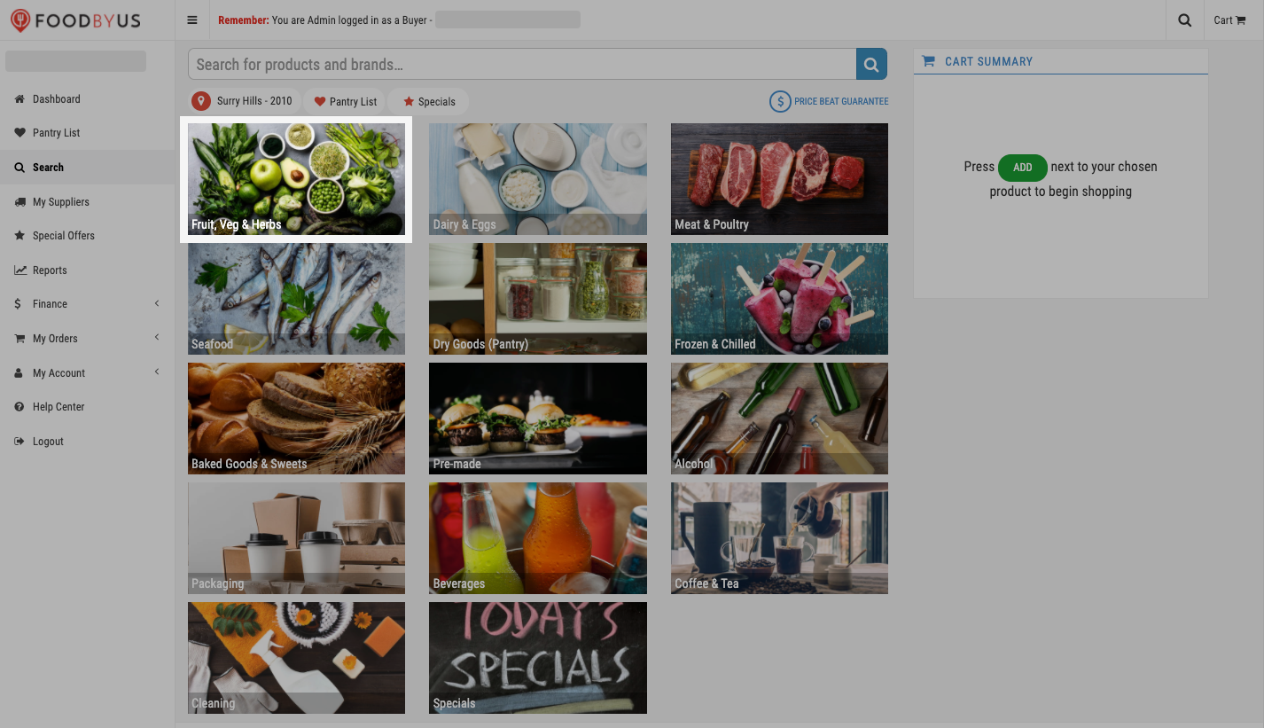 FoodByUs_dashboard_search_marketplace_choose_category