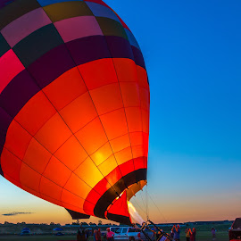 HotAir Balloon Lantern by Kathy Suttles - Artistic Objects Other Objects ( red, time to fly, hot air balloon, firing up, fire, oklahoma, suttleimpressions, apache balloon festival )