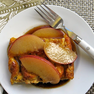French Toast Bread Pudding With Sauteed Fruit.