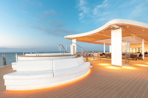 The upper deck of Silver Origin is the perfect place to scope out the Galapagos landscapes.