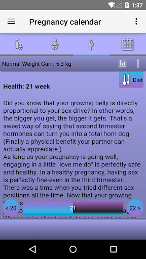 Pregnancy Calendar 2.5.1 screenshots 3