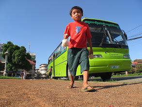 Photo: Green bus for street kids