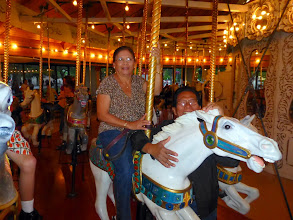 Photo: It was Mama's first Merry-Go-Round ride.