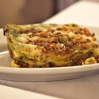 Schwammerl-Lasagne mit Speck und Lauch