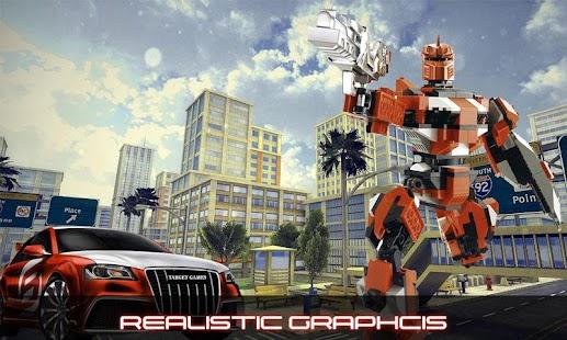 Transformujte superhero robot - náhled