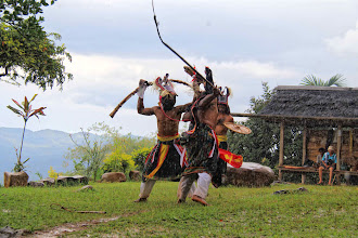 Photo: The dance begins when the time is authorized by the elders, no matter how hot or wet the weather is. Caci dance occurred during the rainy day. http://www.indonesia.travel