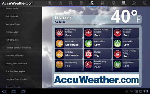 AccuWeather for Sony Tablet S screenshot 3