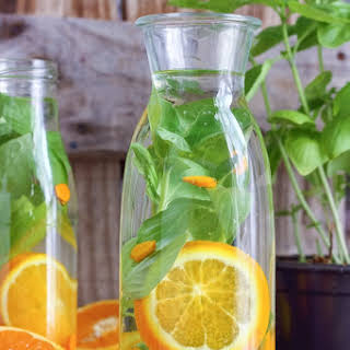 Orange Basil Infused Water.