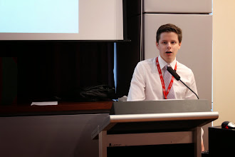 Photo: Alex Jerama is an interne. Usually participants are Hospital Medical Officers grades 2 or 3. His topic was: The effect of renal failure on vascular surgery outcomes