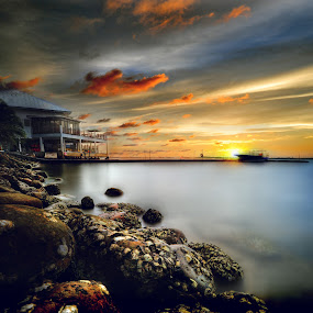 Unnamed place by Mohamad Sa'at Haji Mokim - Digital Art Places ( sunset )