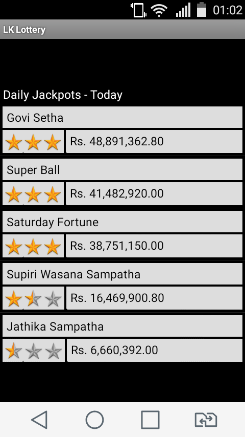 Sri Lanka Lottery Results- screenshot