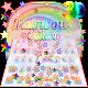 Rainbow Galaxy Gravity Keyboard Theme APK