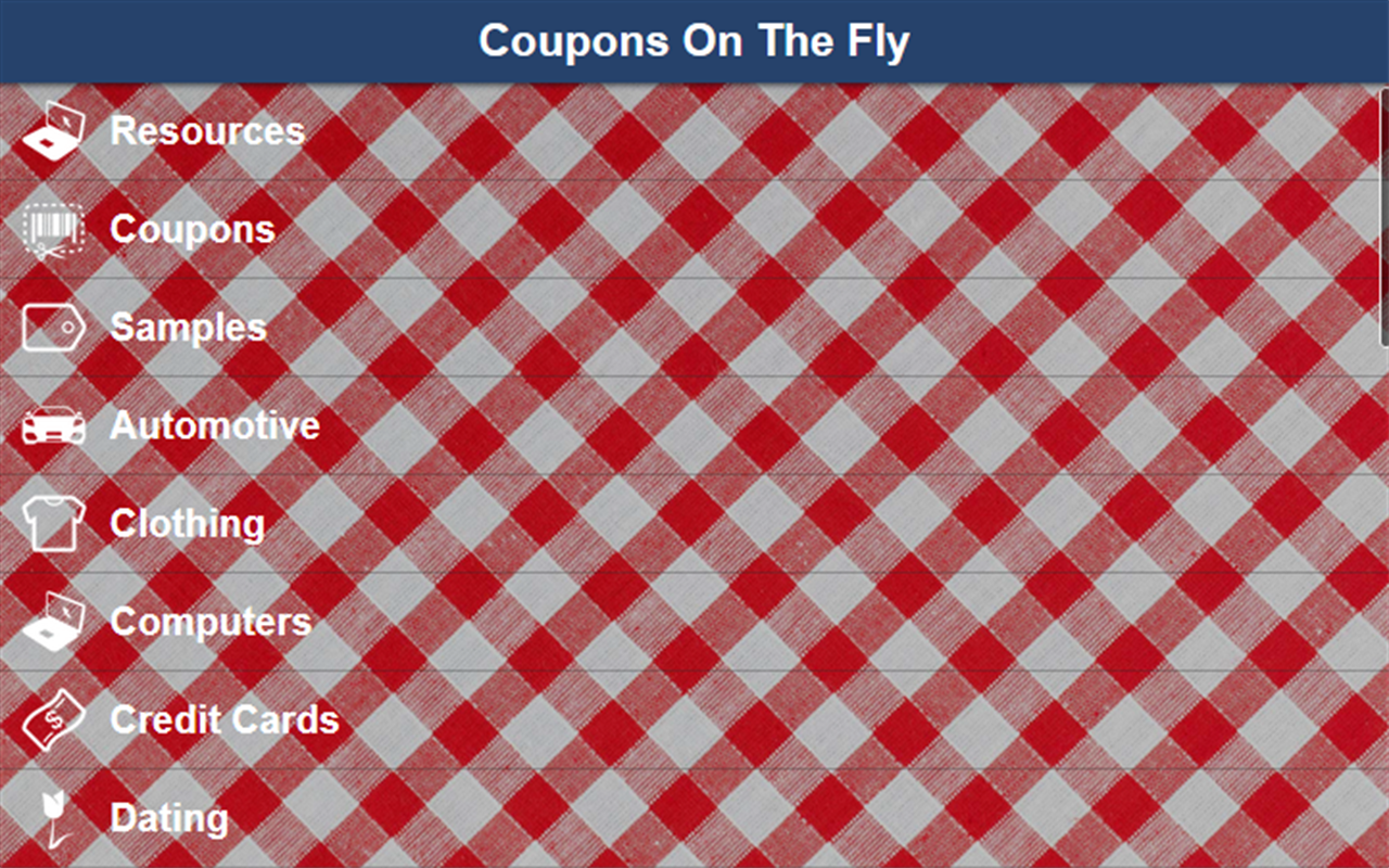 Coupons On The Fly- screenshot